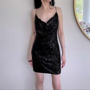 JAYGODFREY Baldwin Sequin Mini Dress
